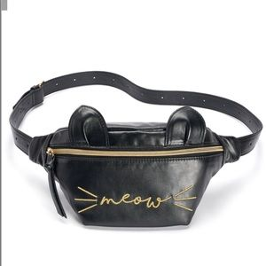NWT Meow Fanny pack Black